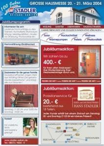 stadler zeilarn 100 jahre stadler zeilarn hausmesse 20. Black Bedroom Furniture Sets. Home Design Ideas